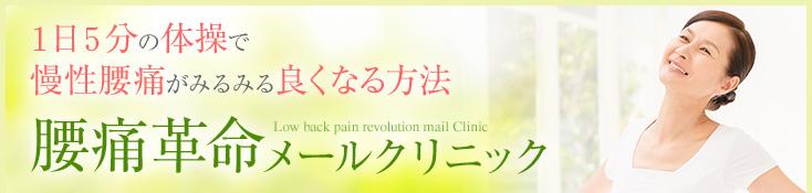 1日5分の体操で慢性腰痛がみるみる良くなる方法腰痛革命メールクリニック